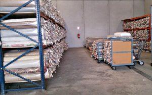 Guardar alfombras en Albacete en Lavandería Alfombralba